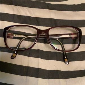 Anne Klein eyeglasses glasses frames red pink